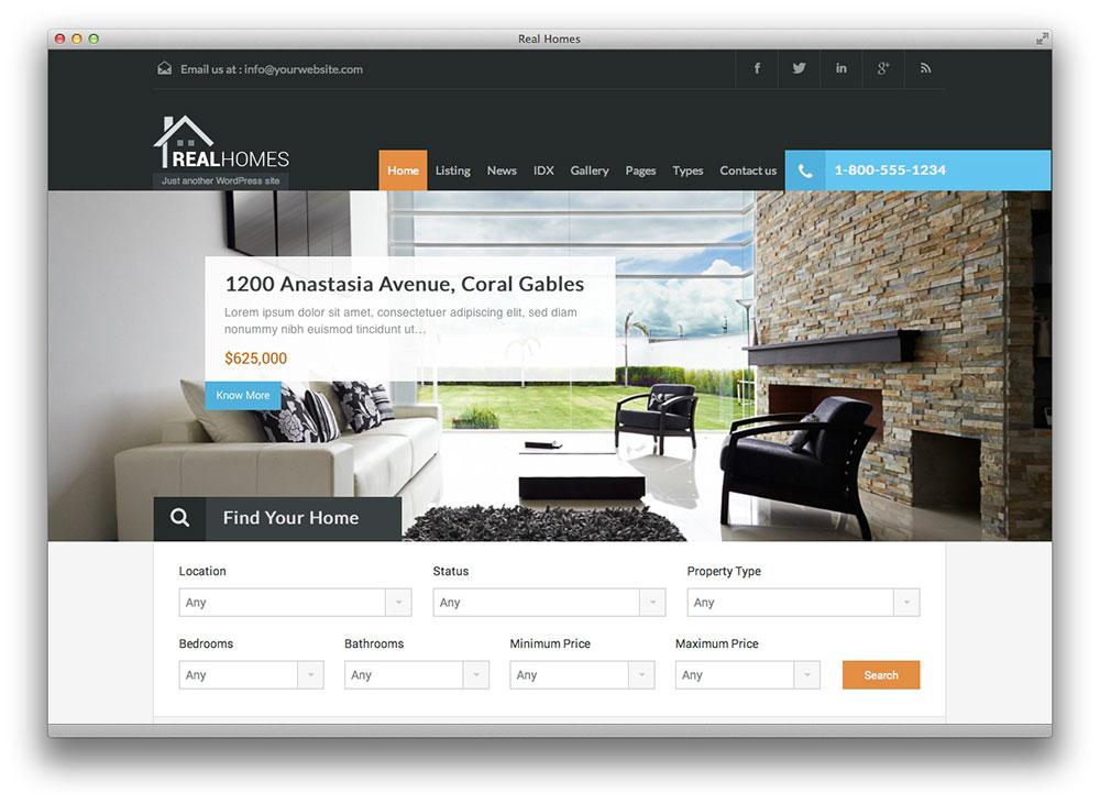 Home / Web Design. Real Estate Website